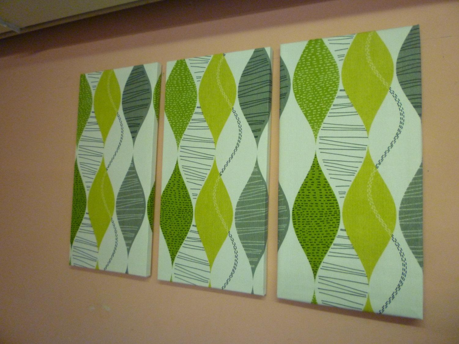 Lime Green Wall Art – Wall Shelves Intended For Teal And Green Wall Art (Image 13 of 20)