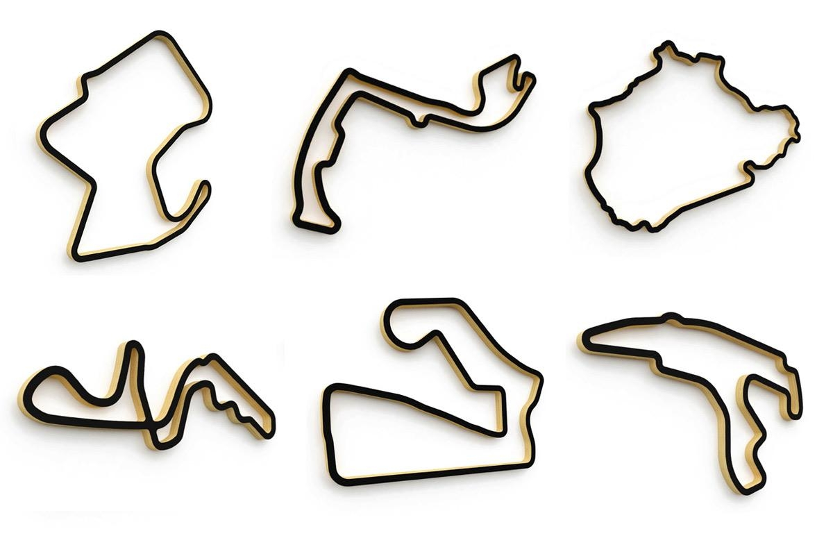 Linear Edge F1 Circuit Sculptures | Scrutinize | The Creative F1 Blog With Regard To Race Track Wall Art (Image 11 of 20)