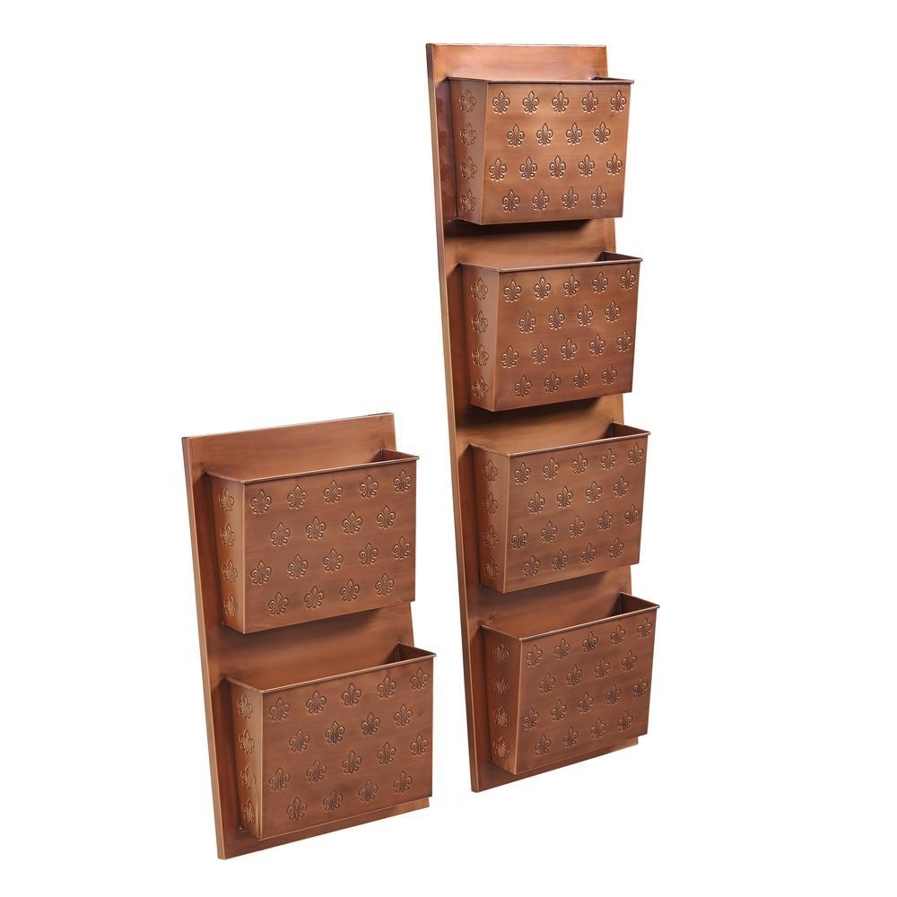 Linon Home Decor 2 Slot Copper Fleur De Lis Decorative Wall File With Regard To Copper Wall Art Home Decor (View 17 of 20)