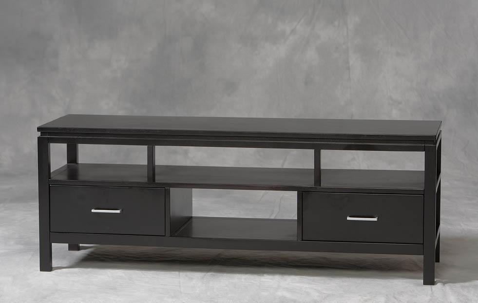 Linon Sutton Plasma Tv Stand 84026Blk 01 Kd U Regarding Most Current Plasma Tv Stands (View 1 of 20)