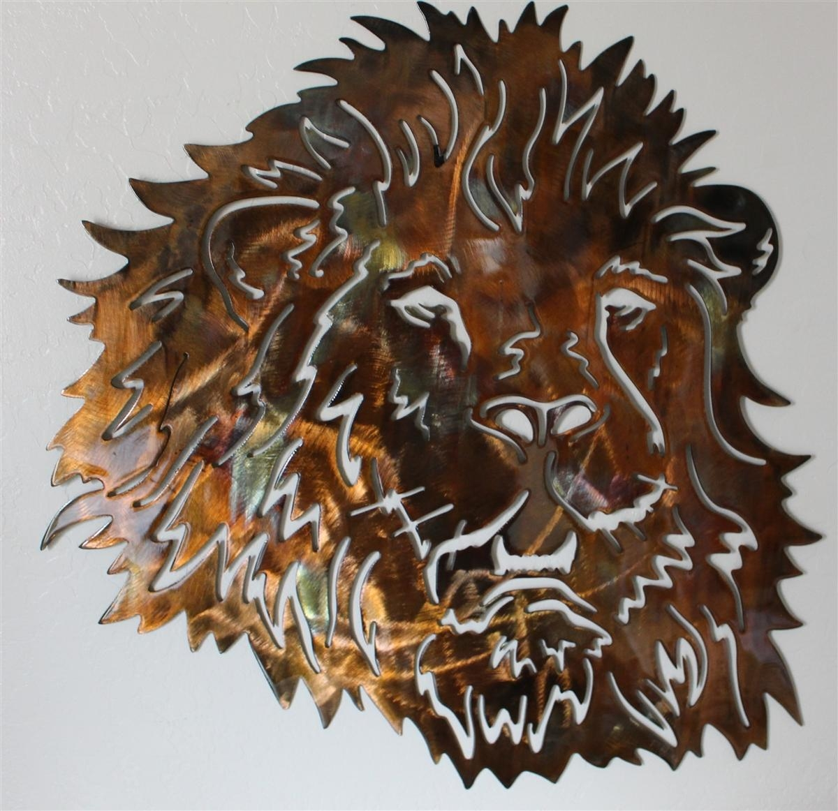 Lionhead 2 For Metal Animal Heads Wall Art (View 8 of 20)