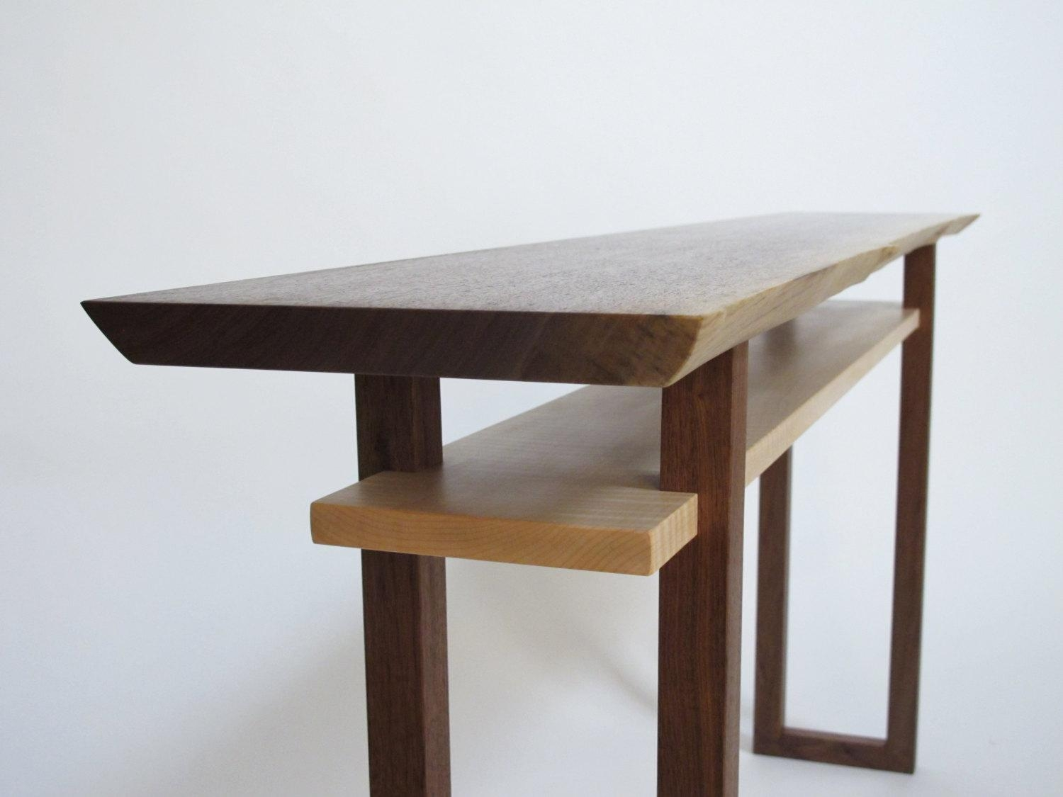 Live Edge Console Table Narrow Sofa Table Live Edge Hall In Narrow Sofa Tables (View 13 of 23)
