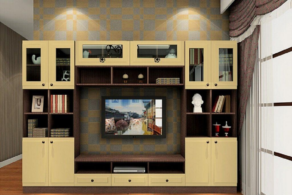 Living ~ 2 Bespoke Built In Fitted Tv Units Cabinets Gloss Luxury Within Recent Bespoke Tv Cabinets (Image 15 of 20)
