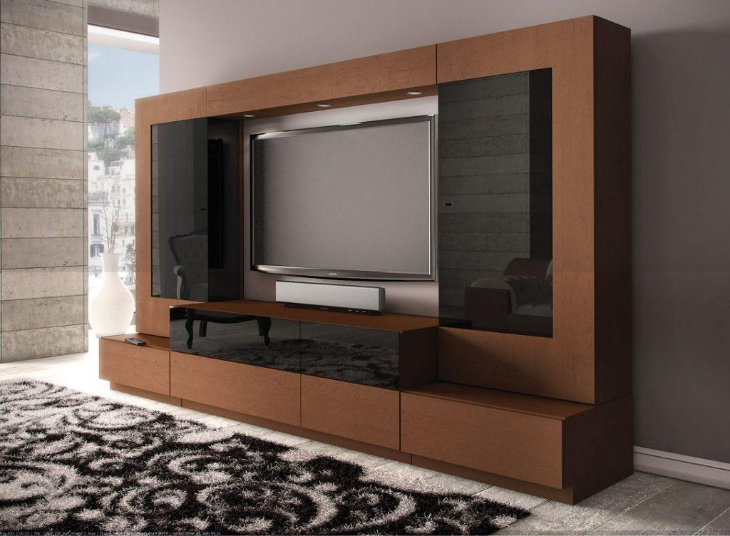Living ~ Curved Tv Lift Cabinet A Big Tv Stand Tv Stand Modern Tv Throughout Recent Modern Tv Stands With Mount (Image 9 of 20)