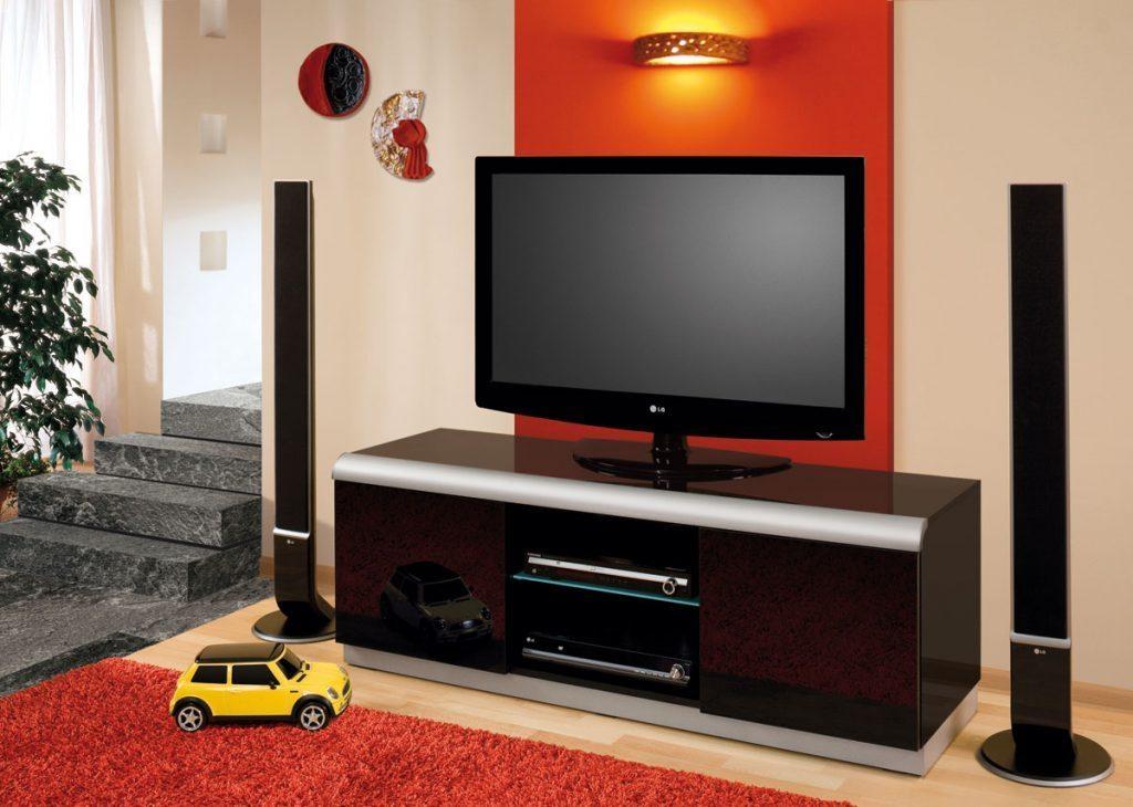Living ~ Denver 2 Black High Gloss Tv Cabinet 46 P 2 Led Tv Unit Intended For Most Popular Denver Tv Stands (Image 17 of 20)