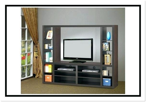 Living Room Bookcase Tv Stand Combo Fraufleur With Matching Within Most Popular Tv Stands With Matching Bookcases (Image 17 of 20)