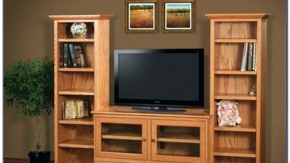 Living Room Bookcase Tv Stand With Matching Bookcases Bookshelf In Most Recent Tv Stands Bookshelf Combo (Image 10 of 20)