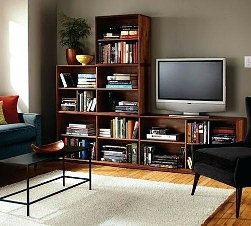 Living Room Bookcase Tv Stand With Matching Bookcases Bookshelf With Most Popular Tv Stands Bookshelf Combo (Image 11 of 20)