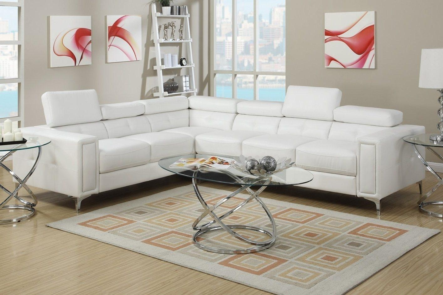 Living Room: Comfortable White Sectional Sofa For Elegant Living Pertaining To Pit Sofas (Image 10 of 20)