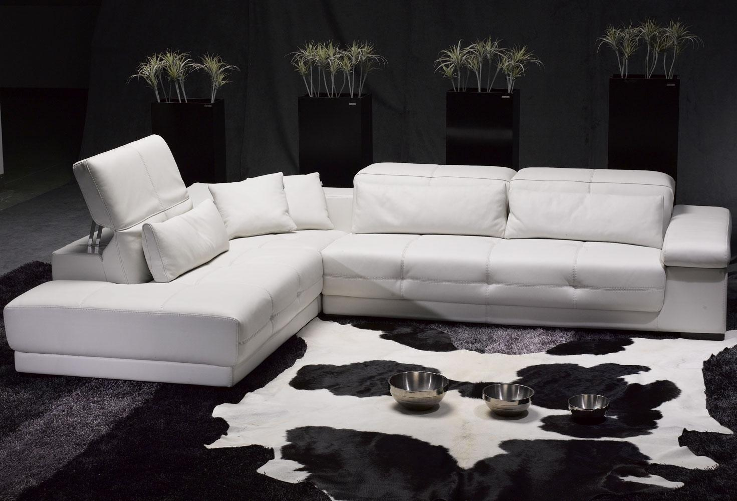 Living Room: Comfortable White Sectional Sofa For Elegant Living Throughout Leather Sofa Sectionals For Sale (Image 11 of 20)