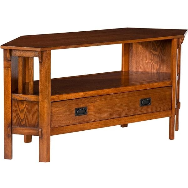 Living Room Furniture | Mission Furniture | Craftsman Furniture With Current Oak Corner Tv Stands (View 3 of 20)