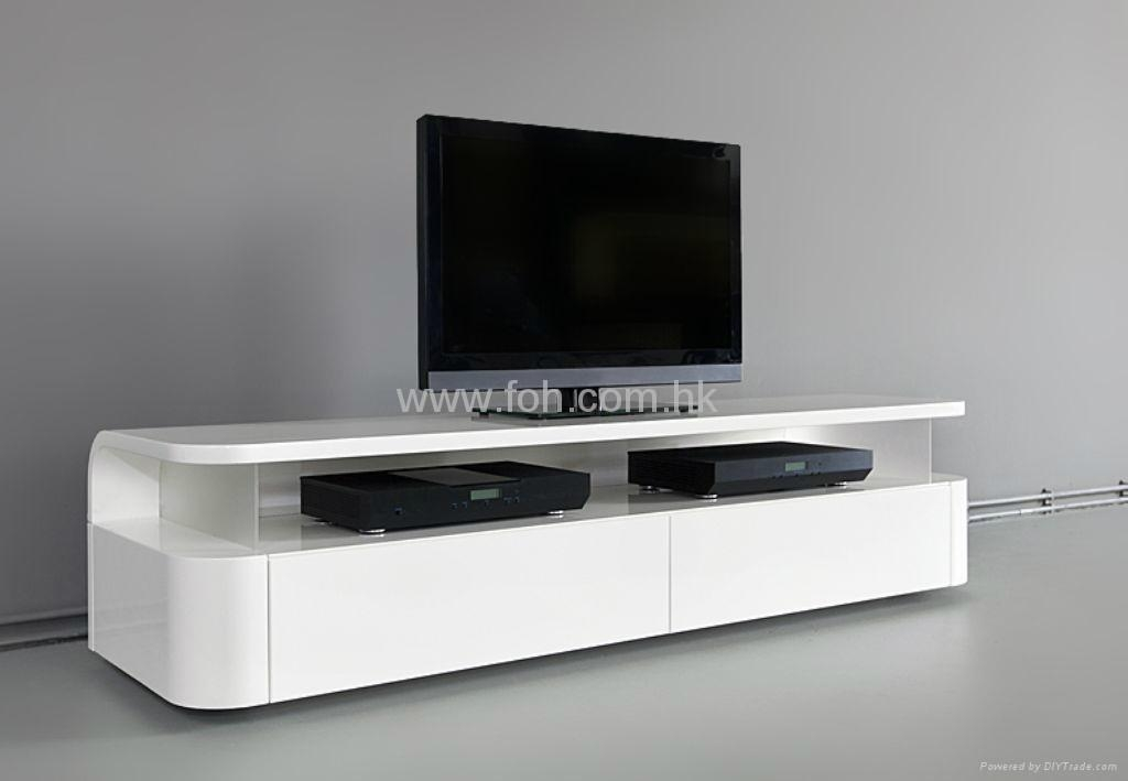 Tv Stand Designs Glass : Latest glossy white tv stands cabinet and stand