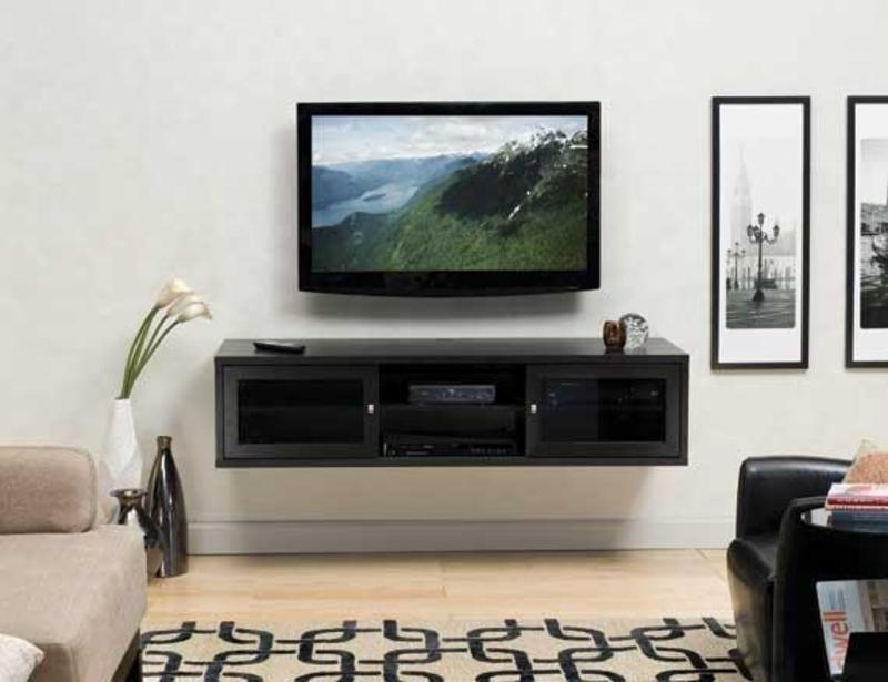 Living Room : Inspiring Living Room Interior With Tv Wall Panel Intended For Recent Modern Wall Mount Tv Stands (Image 7 of 20)