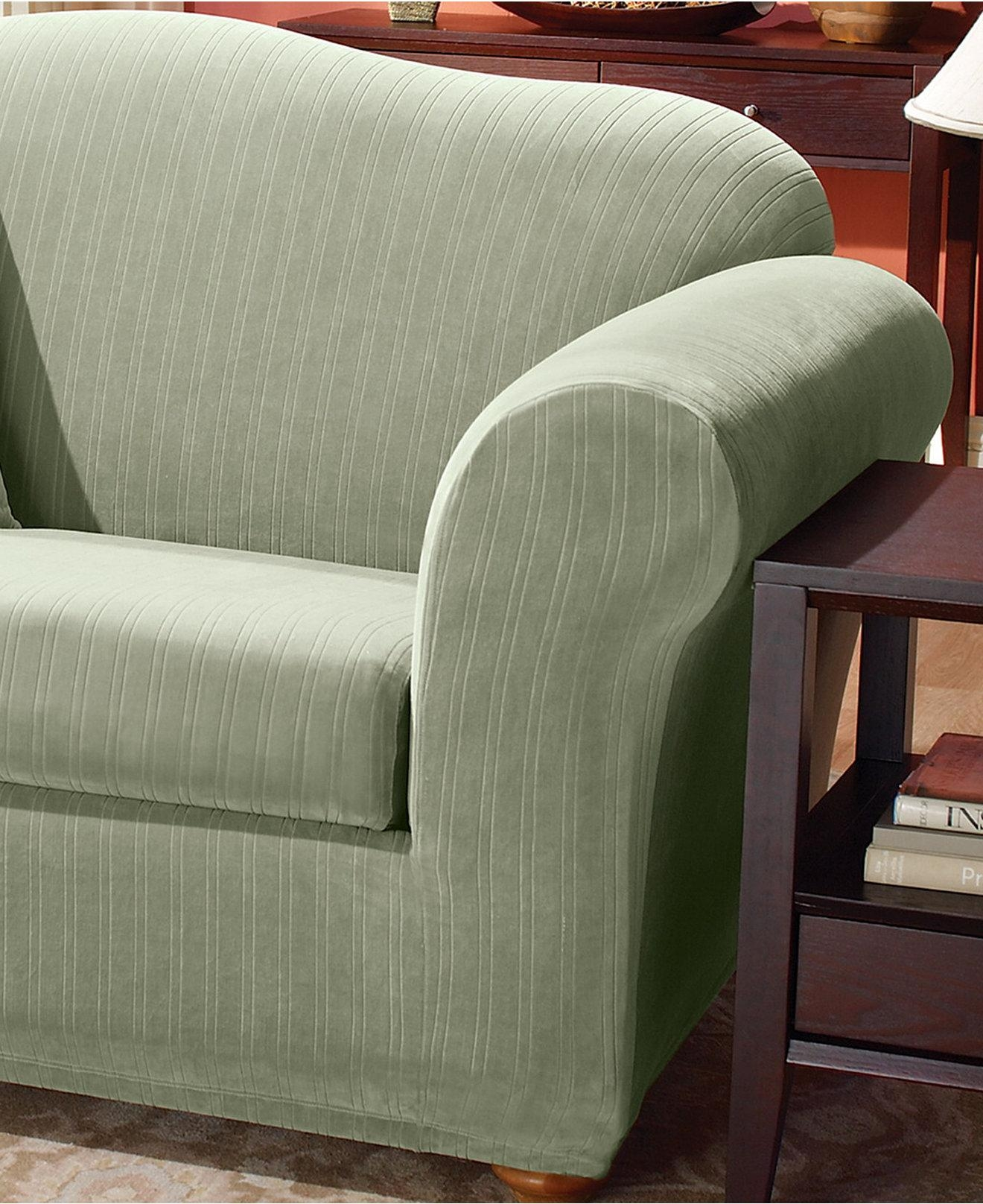 Living Room : Piece T Cushion Couch Cover Sofa Slipcover Sofas Pertaining To 2 Piece Sofa Covers (Image 8 of 27)