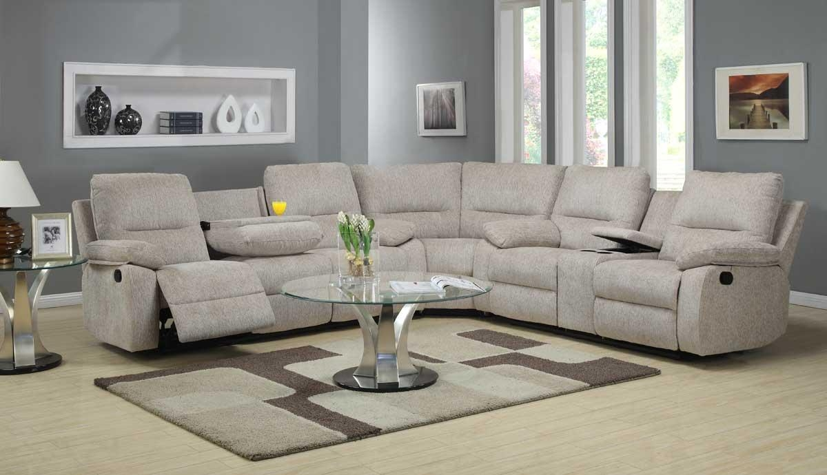 Living Room : Sectionals Sofas Reclining Leather Sectional With Inside Recliner Sectional Sofas (Image 15 of 22)