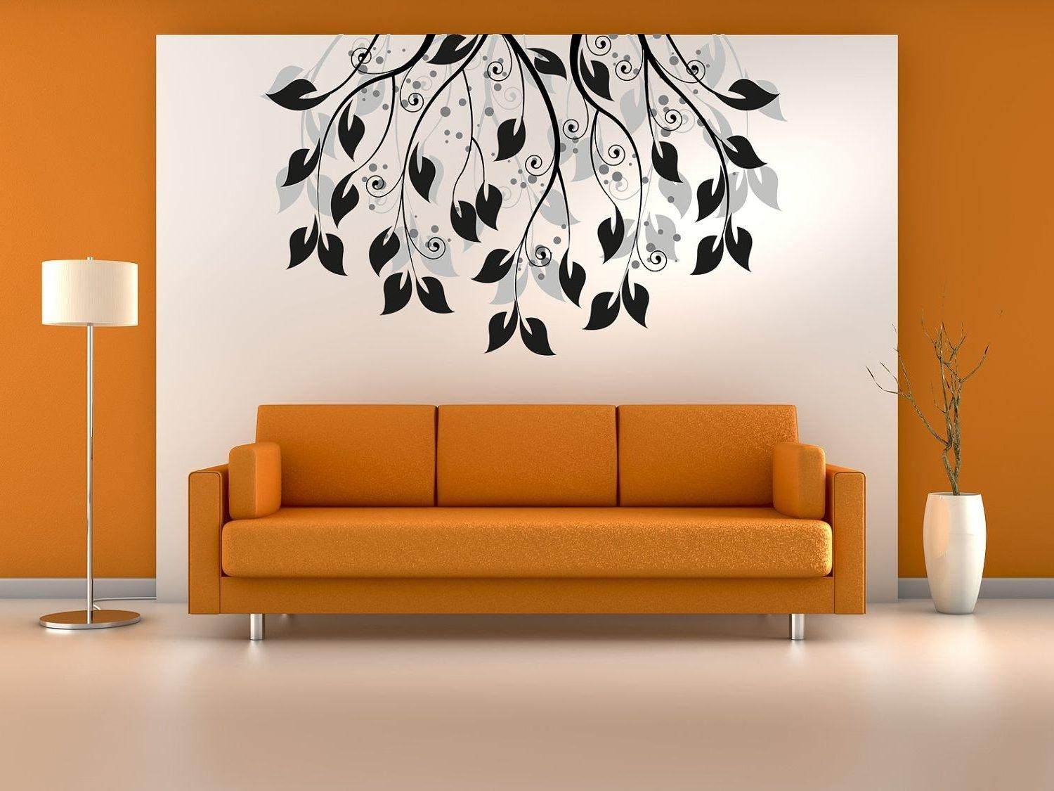 Living Room Wall Art Decals Mahogany Wood Book Rack White Wall With Regard To Metal Chandelier Wall Art (Image 13 of 20)