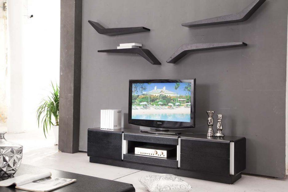 Living Room : Wonderful Wooden Tv Cabinet Designs For Living Room Intended For Most Popular Black Wood Corner Tv Stands (Image 16 of 20)