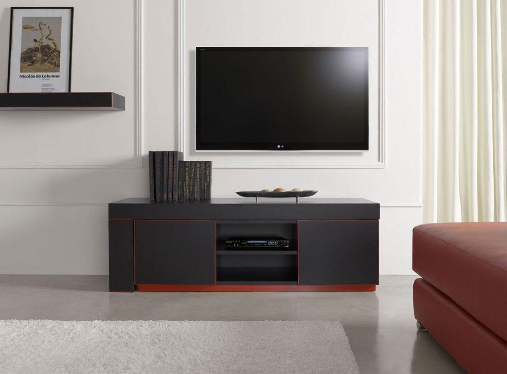 Living ~ Small Black Tv Stand Black Tv Unit Tv Stand Design Low Regarding 2017 Low Profile Contemporary Tv Stands (View 17 of 20)