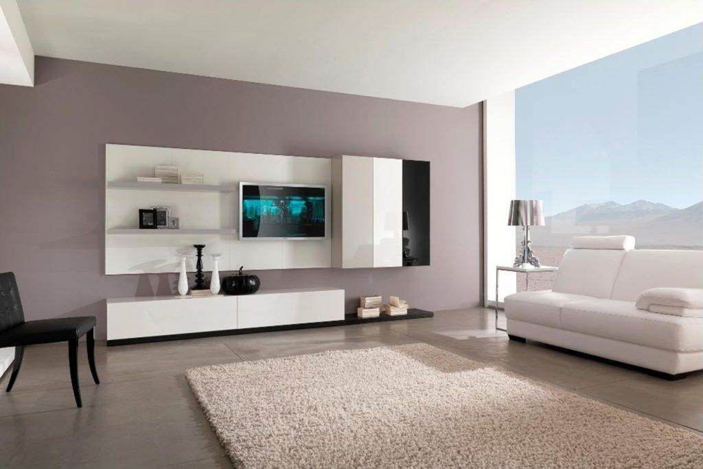 Living ~ Tv Stand Entertainment Console Led Tv Cabinet Design Intended For Best And Newest Trendy Tv Stands (Image 6 of 20)