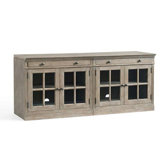 Livingston Small Tv Stand | Pottery Barn With Most Recently Released Rectangular Tv Stands (Image 11 of 20)
