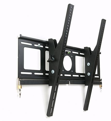 Locking Tv Wall Mount With Tilting Arms & (2) Locks Intended For Most Up To Date Tilted Wall Mount For Tv (Image 6 of 20)