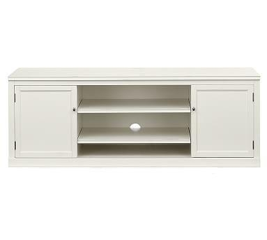Logan Large Tv Stand | Pottery Barn Regarding Current White Tv Stands For Flat Screens (Image 13 of 20)