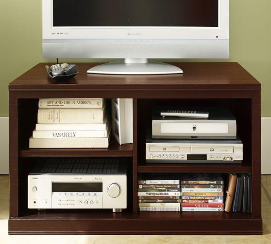 Logan Small Tv Stand, Mahogany Stain | Pottery Barn With Regard To Most Recently Released Mahogany Corner Tv Stands (Image 16 of 20)