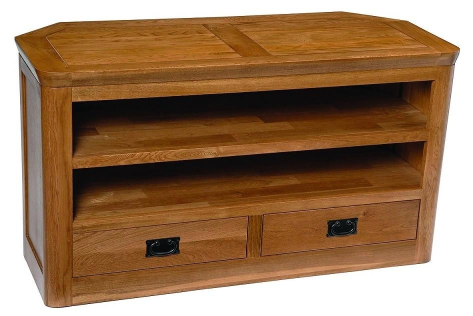 London Dark Oak Large Corner Tv Unit | Hallowood Inside Recent Dark Wood Corner Tv Cabinets (Image 15 of 20)