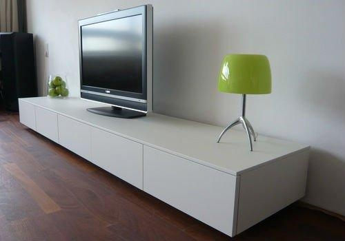 Long White Tv Stand #5769 Inside Most Current White Modern Tv Stands (Image 8 of 20)