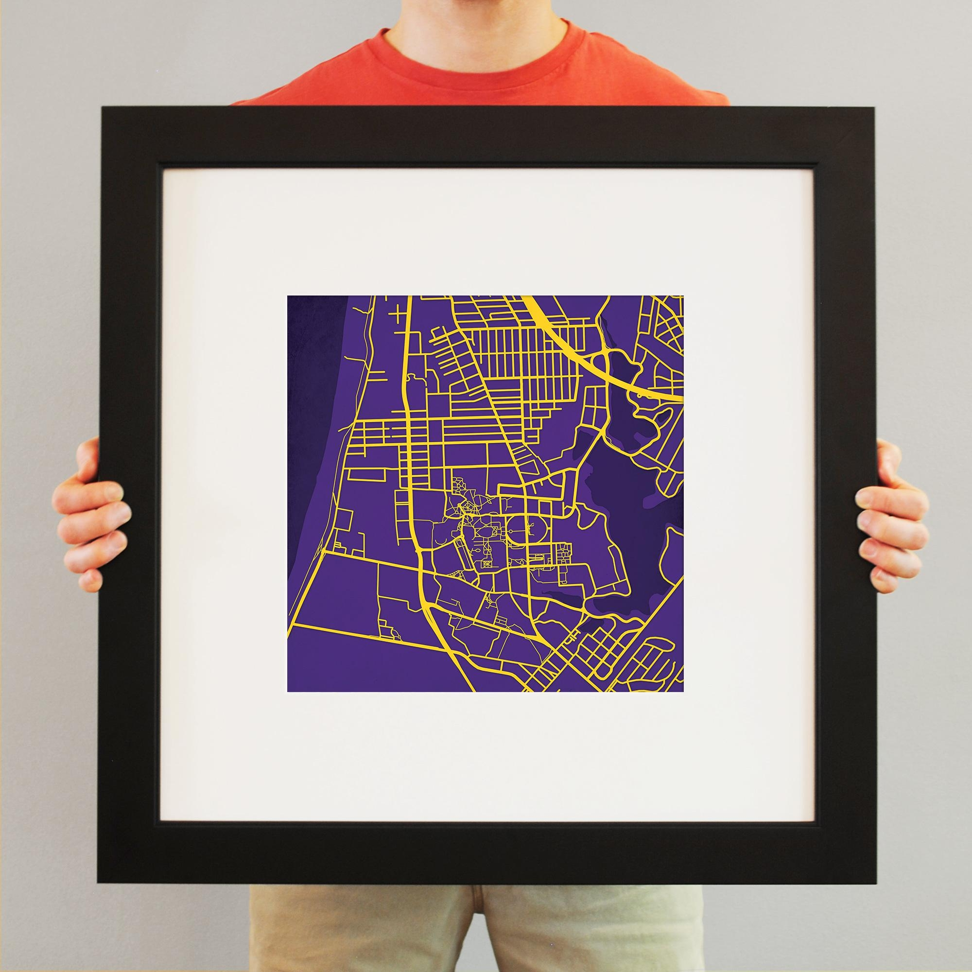 Louisiana State University Campus Map Art – City Prints With Lsu Wall Art (View 14 of 20)