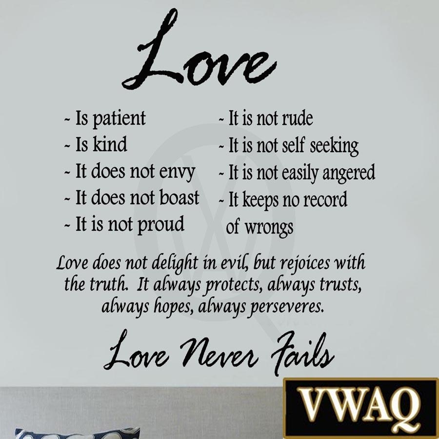 Featured Photo of Love Is Patient Love Is Kind Wall Art