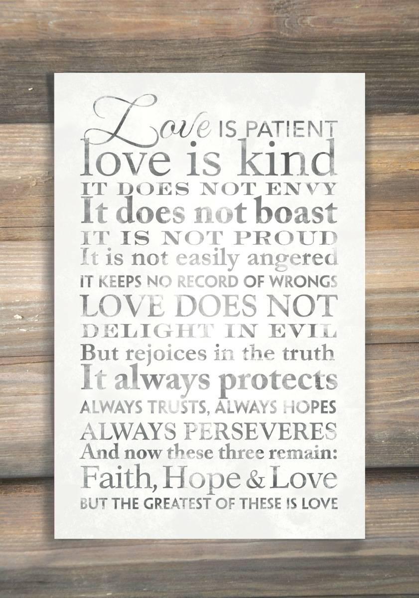 Love Is Patient, Word Art Print – Lds Wall Art Intended For Love Is Patient Love Is Kind Wall Art (View 4 of 20)