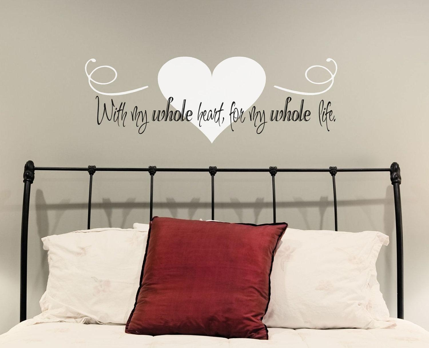 Love Quotes Images: Love Wall Decals Quotes Stickers Love Decals Within Wall Cling Art (Image 14 of 20)
