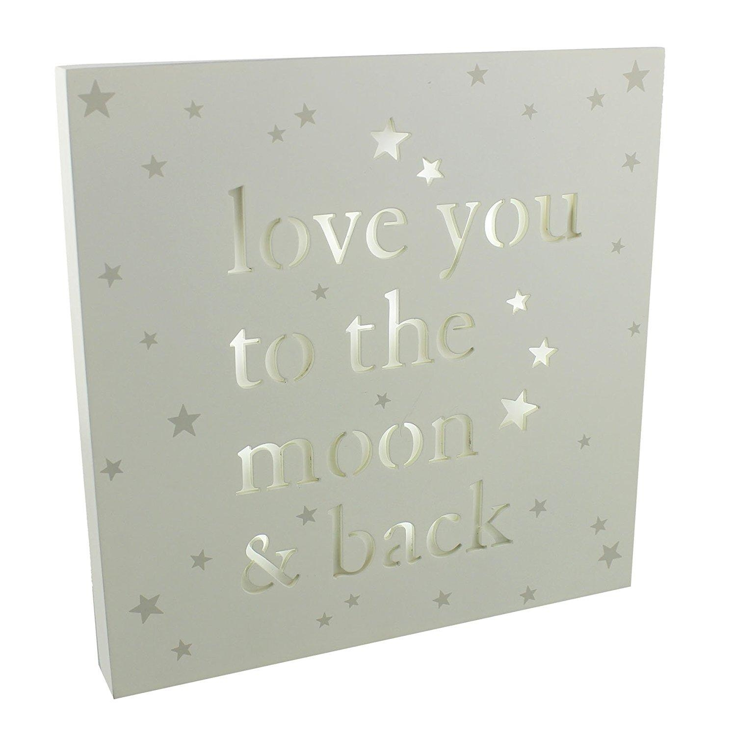 Love You To The Moon And Back Light Up Plaque | Gifts From Handpicked Regarding Love You To The Moon And Back Wall Art (Image 11 of 20)