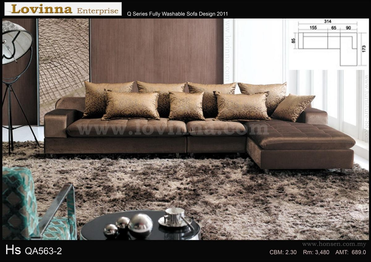 Lovinna L Shape Fabric Sofa  B Intended For L Shaped Fabric Sofas (Image 12