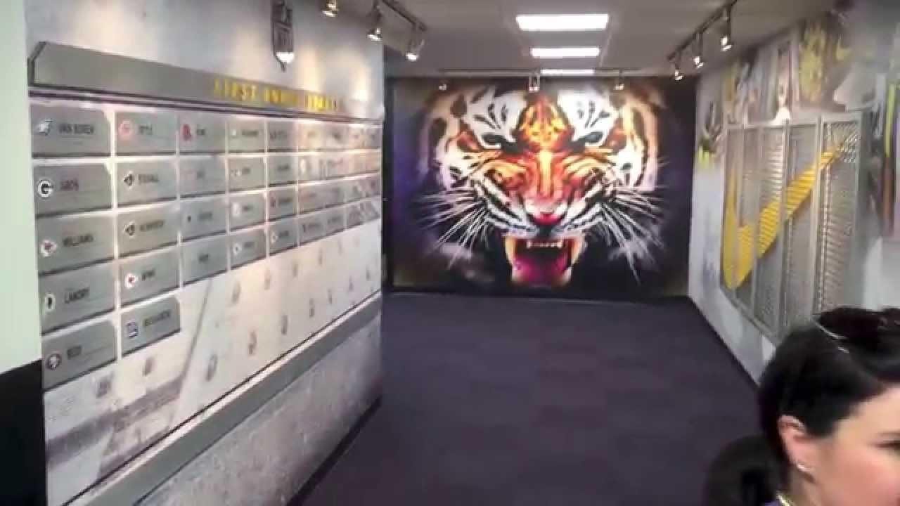 Lsu Football Gameday Locker Room Tour – Youtube With Lsu Wall Art (Image 10 of 20)