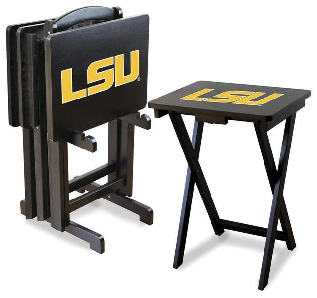 Lsu Tigers Folding Tv Tray Tables – Contemporary – Tv Trays – Regarding Best And Newest Folding Tv Tray (Image 10 of 20)