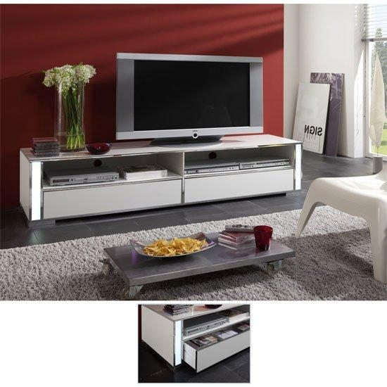Lucent High Gloss White Plasma Tv Stand 56200 7034 For Best And Newest Plasma Tv Stands (View 11 of 20)