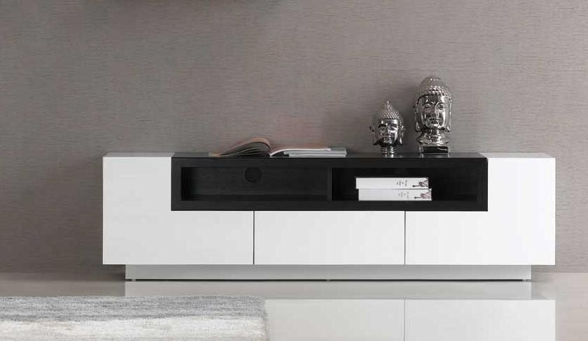 Luciana White & Wenge Modern Tv Stands | Contemporary Tv Stands Regarding 2018 White Contemporary Tv Stands (Image 10 of 20)