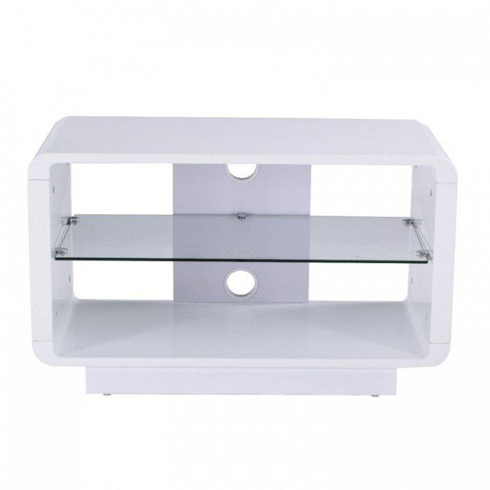 Luna Adlu800 Wht High Gloss White Tv Stand In Best And Newest Glossy White Tv Stands (View 12 of 20)