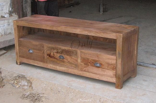 Luxury Wooden Mango Wood Fancy Tv Cabinet Stand Designs For Living With Best And Newest Mango Tv Stands (Image 8 of 20)