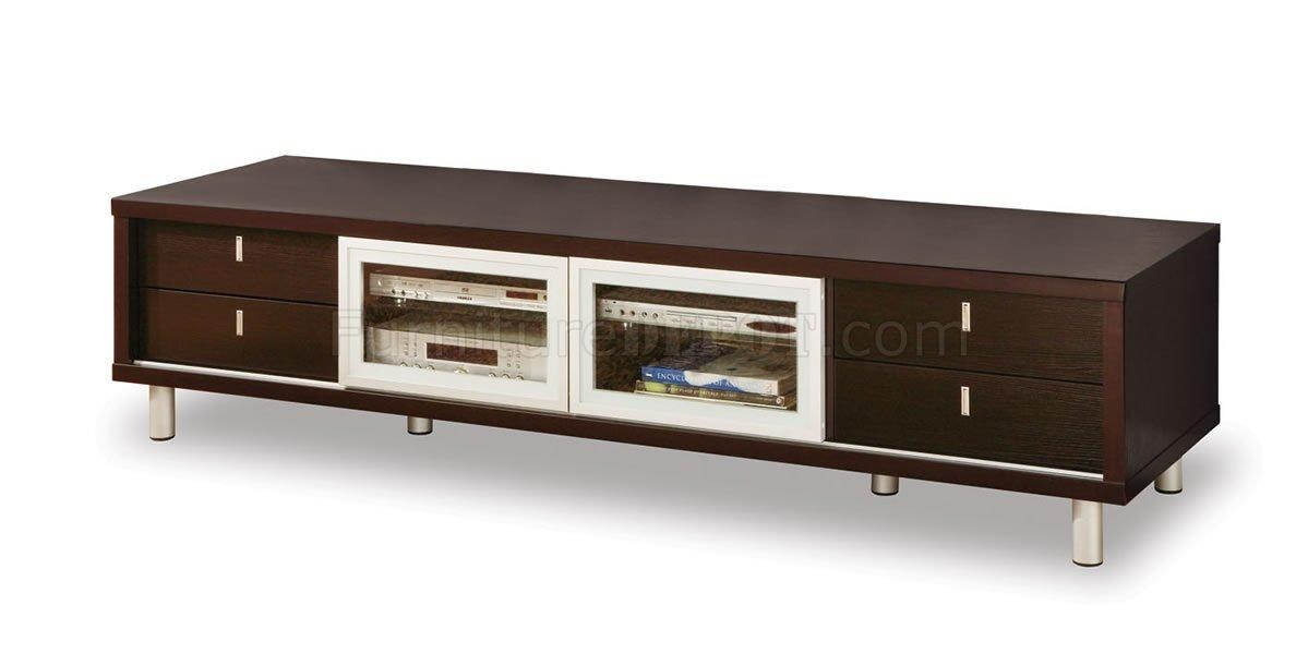 M722Tv Wenge Tv Stand With Sliding Doors With Regard To Most Recent Wenge Tv Cabinets (View 5 of 20)