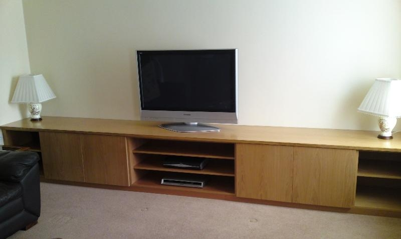 Made To Measure Tv Stands Built Near Leeds, West Yorkshirefine Intended For 2018 Oak Veneer Tv Stands (View 4 of 20)