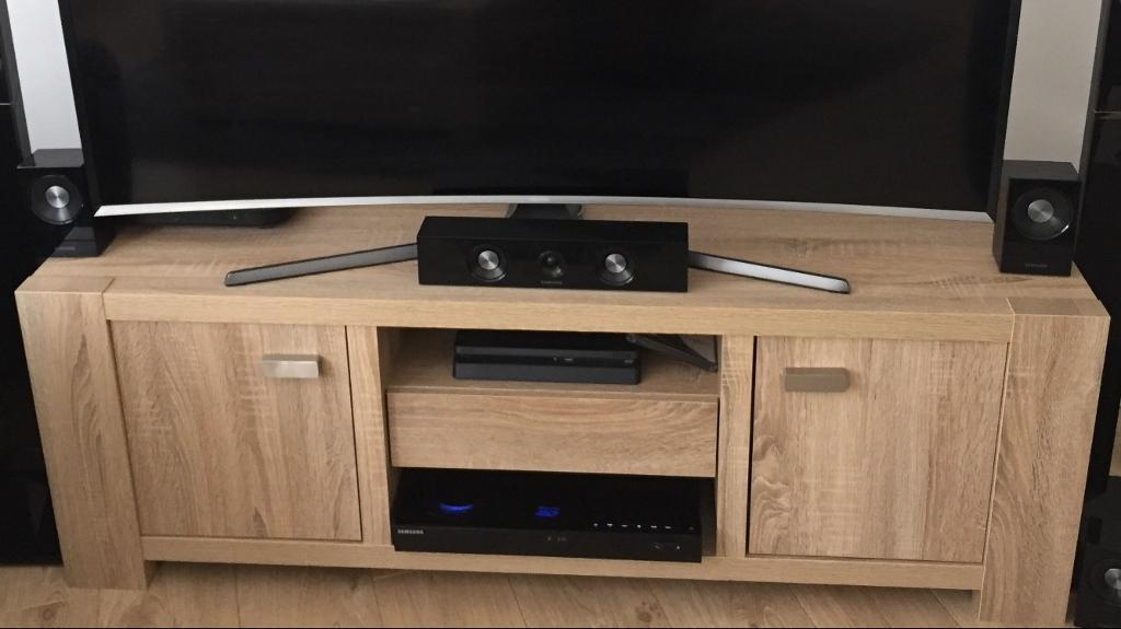 Madsen Wide Tv Unit, Tv Stand, From Next, Light Oak, Reduced! | In With Regard To Most Current Wide Oak Tv Unit (Image 14 of 20)