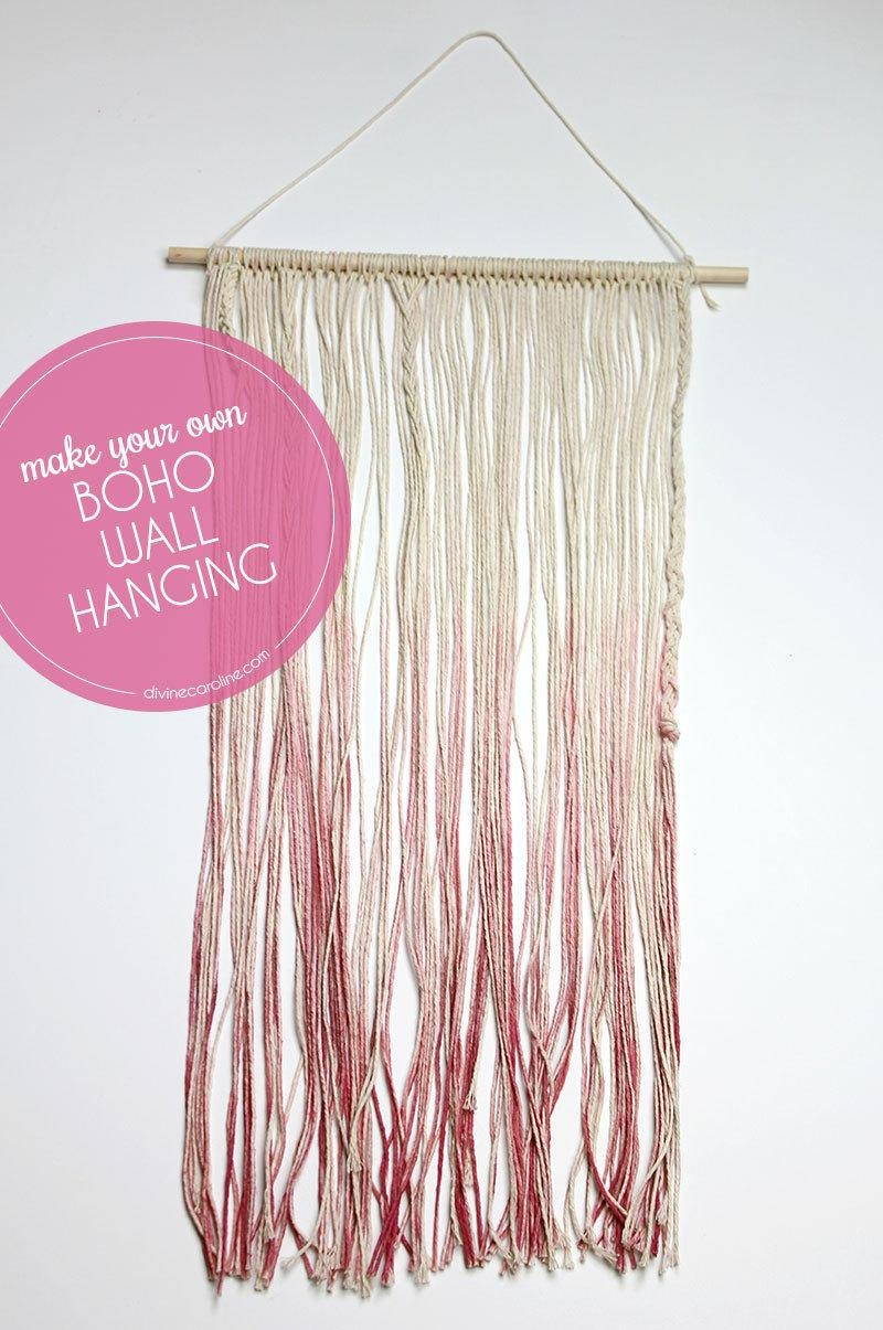 Make Your Own Boho Diy Wall Art | More Pertaining To Boho Chic Wall Art (View 7 of 20)