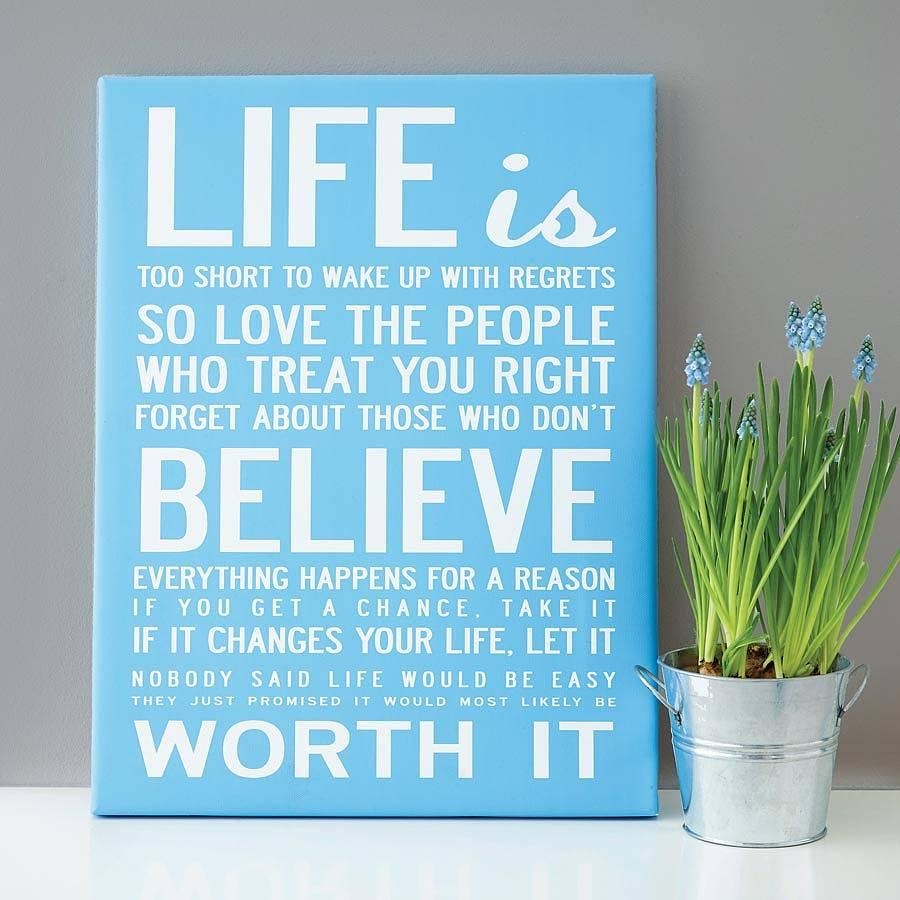 Make Your Own Quote Print – Makecanvasprints Throughout Inspirational Quotes Canvas Wall Art (Image 8 of 20)