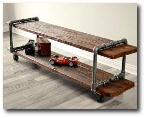 Make Your Own Vintage Industrial Cast Iron Pipe Table Tv Stand Intended For Newest Cast Iron Tv Stands (Image 10 of 20)
