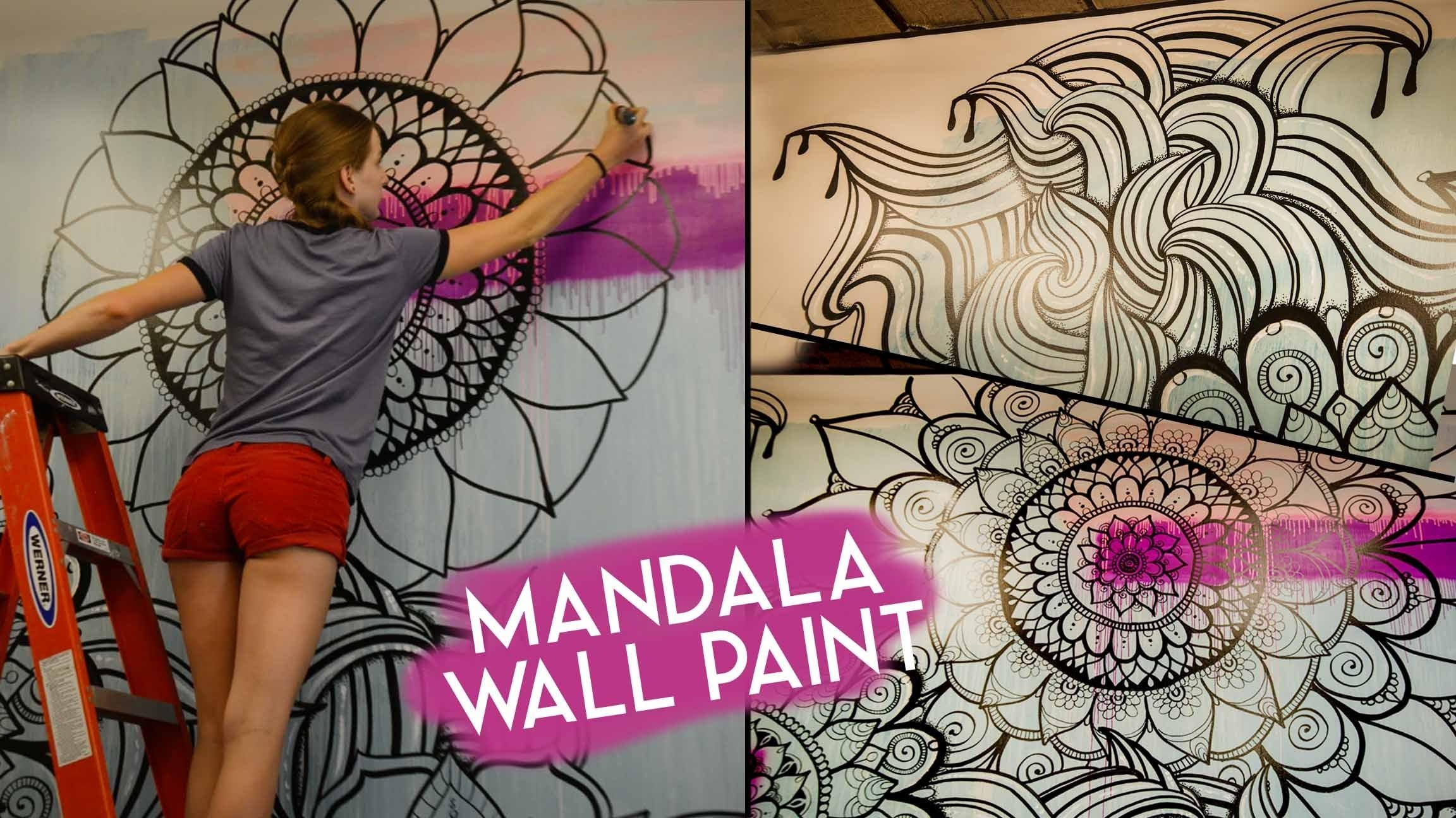 Mandala Wall Art | No Stencils – Youtube Pertaining To Stencil Wall Art (Image 10 of 20)