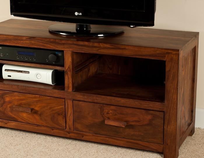 Mandir Sheesham Large Tv Unit | Casa Bella Furniture Uk Intended For Most Popular Sheesham Tv Stands (Image 14 of 20)