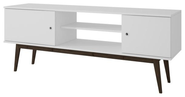 Manhattan Comfort Salem Splayed Leg Tv Stand – Midcentury Regarding Latest White Wood Tv Stands (Image 11 of 20)